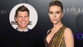 SNL's Colin Jost Reportedly Hooked Up With Scarlett Johansson At The Season Finale Wrap Party