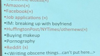 College Instructor Busts Her Students With Embarrassing List Of Things They've Been Browsing In Class