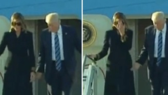 Melania Rejects Donald Trump's Attempt To Hold Her Hand For The Second Day In A Row
