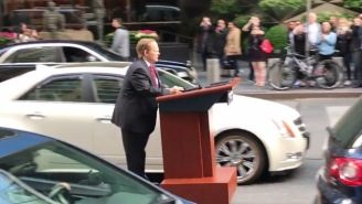 Melissa McCarthy Is Cruising NYC Streets On A Podium Raging At People As Sean Spicer