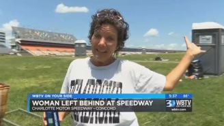 NASCAR Fan Falls Asleep In The Infield At The Coca Cola 600 So Her Family Just Left Her There