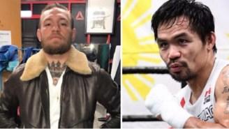 Manny Pacquiao Has Zero Faith In Conor McGregor's Boxing Abilities