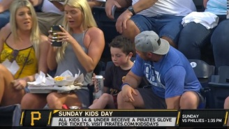 Little Kid At Pirates Game Appears To Take A Swig Of Beer While 'Kids Day' Promotion Runs On TV Broadcast