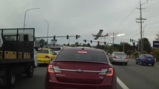 Plane Hits Electric Wires While Crash Landing In Washington, Causes Ball Of Flames In Traffic