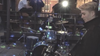Neighbors Call Cops To Break Up House Party, Officer Gets On The Drums And Rages Out