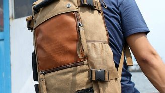 This Rucksack Canvas Backpack Doubles As A Duffel Bag And The Price Is Unbeatable