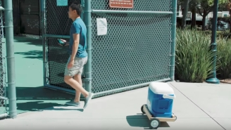 Genius Bro Inventor Creates A Cooler That Will Follow You Around Like A Dog AND Keep Your Beer Icy Cold