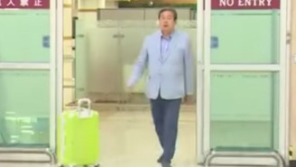 Nobody In Recorded History Has Ever Been More Cocksure Than This South Korean Politician Walking Into An Airport