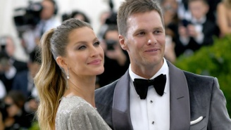 Tom Brady Could NOT Stop Grabbing Gisele's Ass, Looked Like A Dork Taking Her Picture At The Met Gala