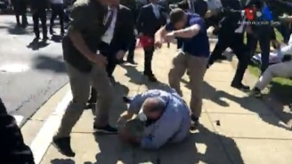 Protesters Beaten By Bodyguards Outside Of Turkish Embassy In D.C. In Crazy Brawl