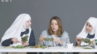 Aubrey Plaza Smokes 'Purple Cream' With The 'Weed Nuns' And Gets Blazed AF