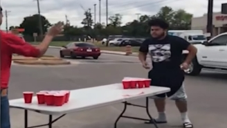 Video Of Two Dudes Playing Beer Pong In Busy Intersection Goes Viral