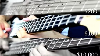 Dude Plays Bass Solo Using Guitars Costing $100, $700, And $10,000 To Show The Different Sounds
