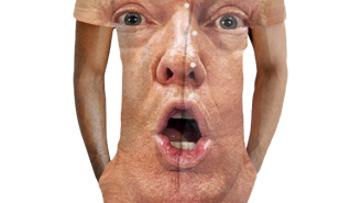The Donald Trump Shocked Face Male Romper Has Finally Arrived!
