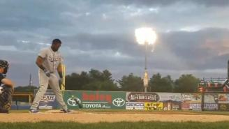 Cubs Top Prospect Goes Full 'The Natural' And Smashes Lights Out With Home Run