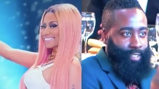 The Internet Reacts To James Harden's Thirsty Stare At Nicki Minaj During The NBA Awards
