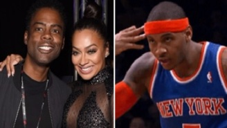 Carmelo Anthony Is Reportedly Angry At Comedian Chris Rock For Hitting On His Estranged Wife La La
