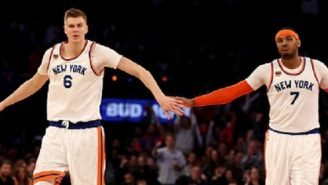 Carmelo Anthony Was Reportedly Furious At Kristaps Porzingis For Praising The Triangle Offense Last Season