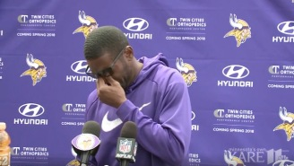 Randy Moss Breaks Down In Tears While Discussing Late Coach Dennis Green