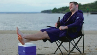 Someone Finally Invented 'The DudeRobe' — Towel-Lined Lounge Apparel For Dudes Who Like To Chill