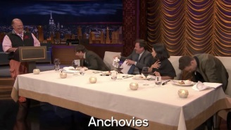 Vanessa Hudgens, Ashton Kutcher, And Mario Batali Play 'Secret Ingredient' And Taste Test Awful Foods