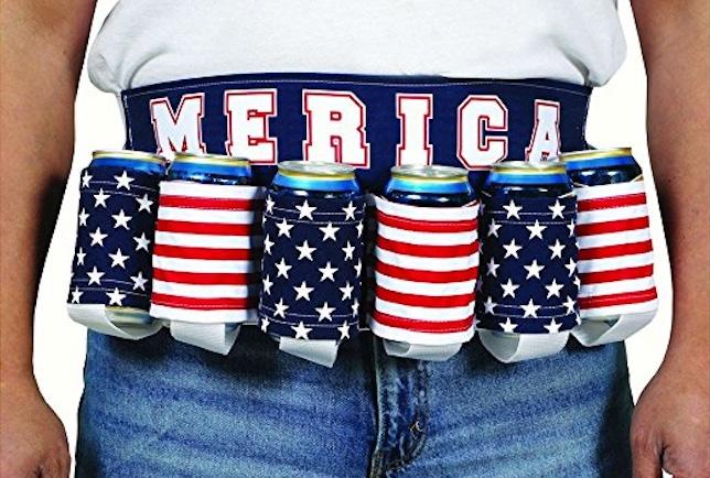 six pack merica belt