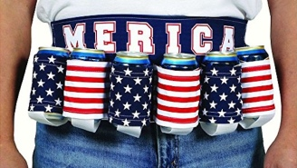 Celebrate Like A True Patriot With This American Flag Beer Belt
