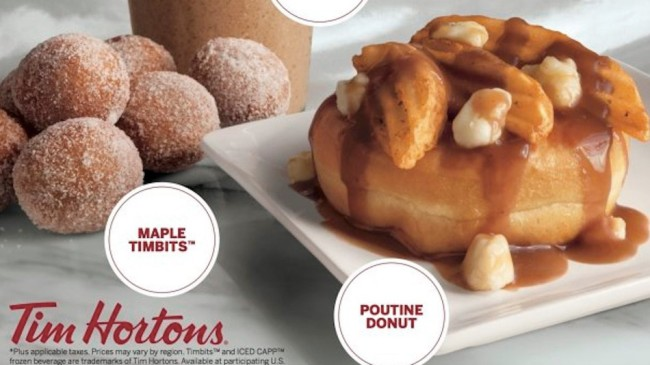Tim Hortons Will Sell Poutine Doughnuts to Celebrate Canada's 150th Birthday
