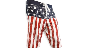 These US Flag Board Shorts Will Give You Freedom Where It Counts — Around Your Junk