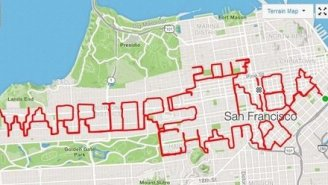 Real Life Forrest Gump Runs 50 Miles Around San Francisco To Spell Out 'Warriors 2017 NBA Champs'