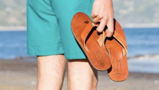 The Ace Sandal Premium Brown Leather Flip Flops Are Made In The USA And 20% Off Right Now