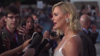 Charlize Theron Wore A Bra To The 'Atomic Blonde' Premiere Because She's A Badass Like That