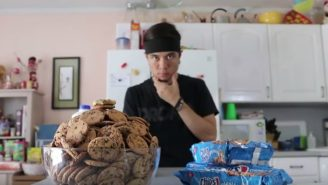Watch Matt Stonie Eat 13 Pounds Of Milk And Cookies In Under A Half-Hour