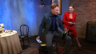 Conan Pulls Out All The Stops While Playing Cuphead With Kate Upton In Latest Clueless Gamer