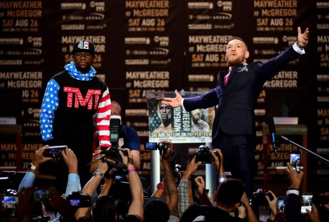 conor mcgregor revealed what was said floyd mayweather press conference