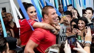 Gronk Partied With Demi Lovato And 200 Of Her Fans In Boston Because His Life Is A GD Fantasy