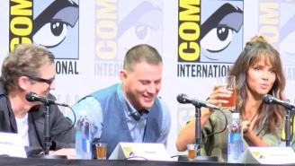 Halle Berry Masterfully Chugs A Pint Of Whiskey At Comic-Con Or Did She? (VIDEO)