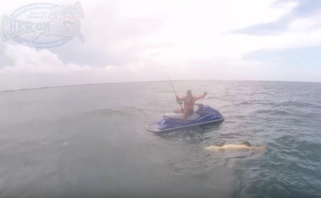 Jet Ski Fishing Goliath Grouper