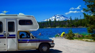 Living The Dream: Couple Quits Finance Jobs To Travel Around America In An RV With Their Dogs — Here's How They Did It