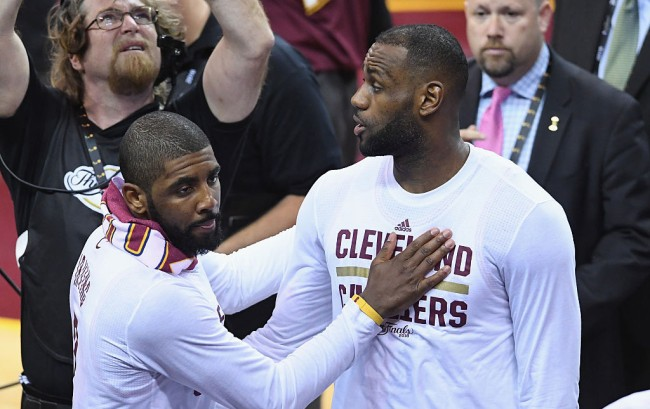 kyrie irving trolls lebron james snapchat video