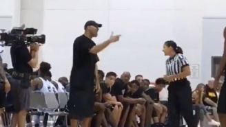 LaVar Ball Forfeits Another Game After Getting Ejected, Says Female Ref Should 'Stay In Her Lane'