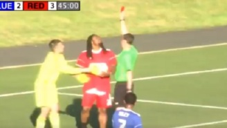 Marshawn Lynch Gets Red Card In Charity Soccer Game For Going Full 'Beast Mode'