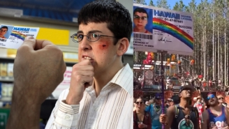 Guy Holding Up McLovin Sign At Festival Has No Clue He's Standing Next To Real McLovin (VIDEO)