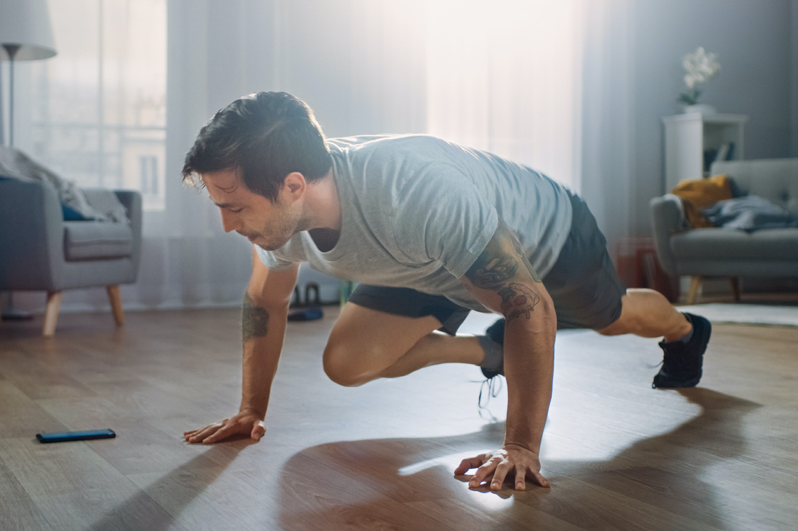 3 Bodyweight Workouts To Keep You Fit, Just In Case Your Gym Shuts Down Again
