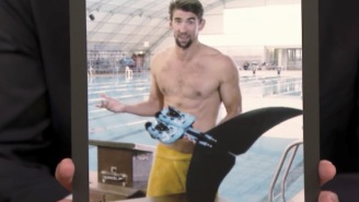 Michael Phelps Claims He Wanted To Race A Great White Shark Without A Cage, Shows Off His Shark Fins