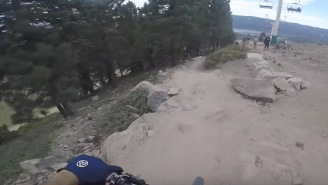 Bro Wears A GoPro During A Mountain Biking Race And This Will Wake You Up Faster Than Coffee
