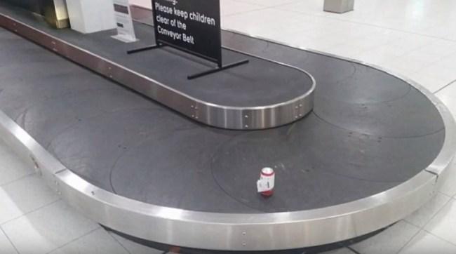 Passenger Checks In Beer At Airport