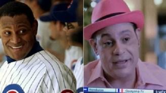 The Internet Reacts To Sammy Sosa's New 'Pepto-Bismol' Look