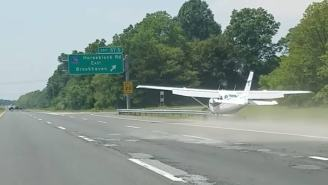 WATCH: Plane Makes Perfect Emergency Landing On Highway In Traffic