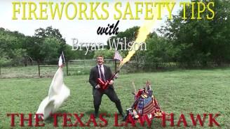 Attorney Bryan E. Wilson — AKA The Texas Law Hawk — Has The Best 4th Of July Fireworks PSA